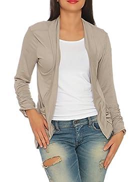 Damen Longshirt leichter Sommer Cardigan Bluse Lang Boyfriend Style ( 551 )