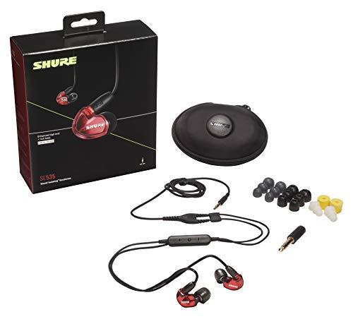 Shure SE535 In Ear Kopfhörer mit Sound Isolating Technologie, 3, 5-mm-Kabel, Fernbedienung und Mikrofon - Premium Ohrhörer mit warmem & detailreichem Klang - Limited Edition Rot - 2