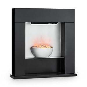 Klarstein Studio 8 Chimenea eléctrica – Calefactor de Pared, 1000 y 2000 W, Calentador con Ventilador, Efecto Llama…
