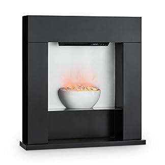 Klarstein Studio 8 Chimenea eléctrica – Calefactor de Pared, 1000 y 2000 W, Calentador con Ventilador, Efecto Llama Independiente, hasta 40m², Negra