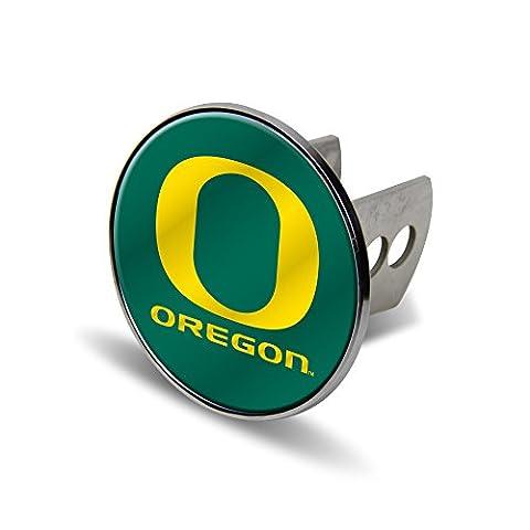 NCAA Oregon Ducks Laser Cut Metal Hitch Cover, Large, Silver