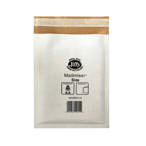 jiffy-airkraft-lightweight-postal-bag-for-a7-box-of-150-size-000-white-90-x-145mm