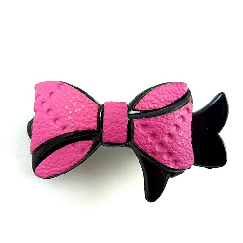 rougecaramel - Accessoires cheveux - Mini pince cheveux fantaisie forme noeud - rose