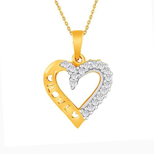 Giantti 14carats Diamant pour femme Collier Pendentif cœur (0.2032CT, VS/Si-clarity, Gh-colour)