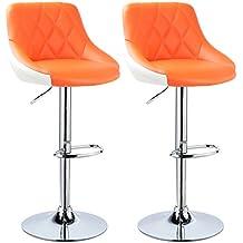 woltu bh30or 2 design 2 couleur tabouret de bar lot de 2 avec sige bien - Tabouret Bar Orange