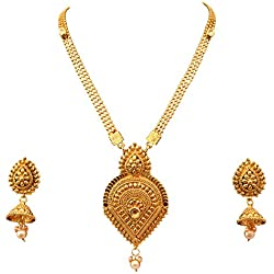 Sitashi Imitation/fashion Jewellery Gold Plated long Antique wedding Necklace Set For Women For Wedding