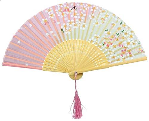 Kostüm Männlich Chinesische - Makwes Hochzeitsfan-Faltbare Bambusstruktur des chinesischen Handgriff-Fans für Stoff-Schmetterling, faltender männlicher und weiblicher Fanaktivitäts-Stützfächer, Geburtstags-Hochzeitsfest-Dekor