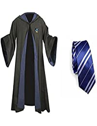Harry Potter Gryffindor Slytherin Ravenclaw Hufflepuff Adult Fancy Robe Cloak Costume And Tie