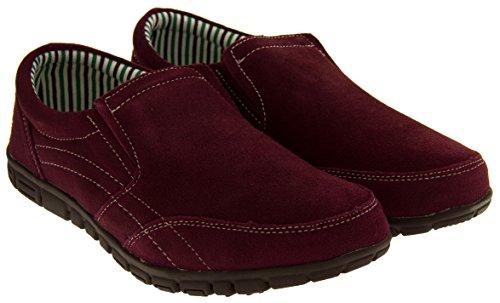 Coolers BF720 Cuir Daim Décontracté Chaussures de Sport Mocassins Femmes Vin