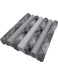 Set Of 7 100% Cotton Mens Gents Handkerchiefs Hankies Hankys Boxed Gift Pack
