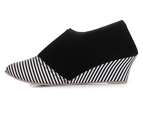 TRASE Duchess Black Casual Shoes for Women-8 IND/UK