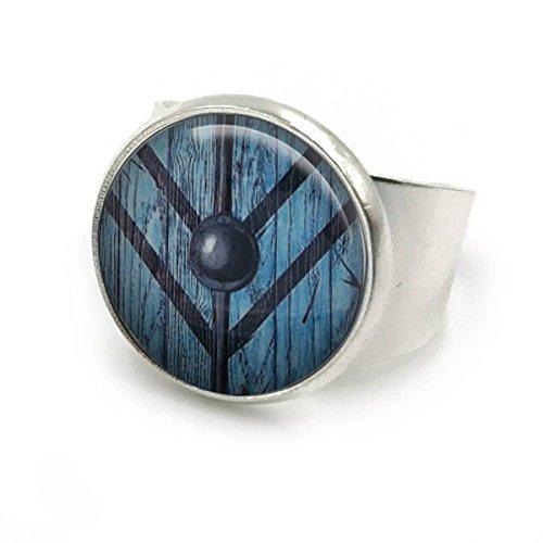 Butterfly N Beez Antike Bronze Lagertha Schild Jungfrau Vikings Ring| Verstellbarer Ring| Ragnar| Lagertha Viking| Lagertha Wikinger| Lagertha Geschenke| Wikinger Geschenke| Geschenk für sie | 13 - Bronze Ring