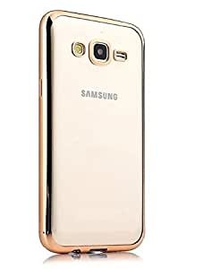 Hight Quality Gold Edge Flexible Tpu Back Case Cover For Samsung Galaxy J2 (2016)