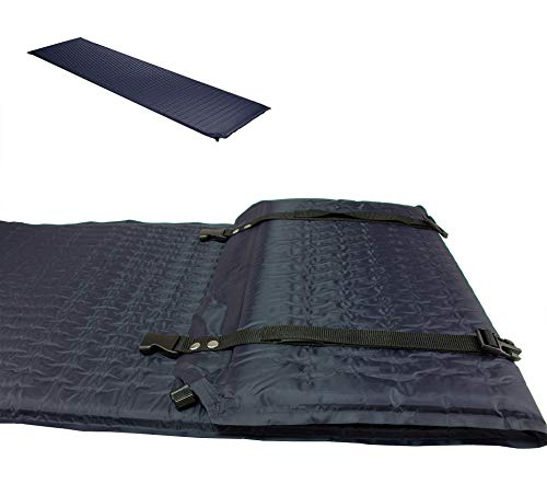 Isomatte ca. 2 cm tief selbstaufblasende Luftmatratze/Thermomatte 188 x 51 x 2 cm - Robust, kälte- wasserabweisend - Keine Luftpumpe nötig - Für Survival, Camping, Outdoor, Festivals, Gästebett