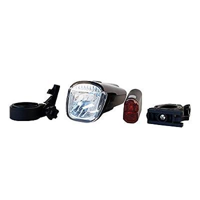 ToCi Fahrradlampen-Set LED | Fahrradbeleuchtung mit StVZO | Fahrradlicht mit Vorder- und Rücklicht | Modell: 40 Lux