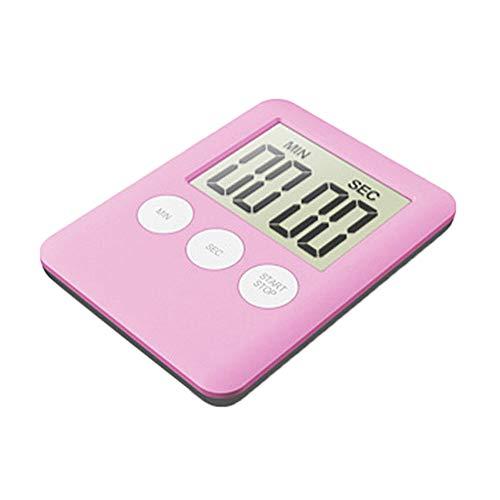 TianranRT Groß Digital LCD Küche Kochen Timer Countdown Hoch Watch Wecker Magnetisch (Rosa) - Slicer Knoblauch-peeler