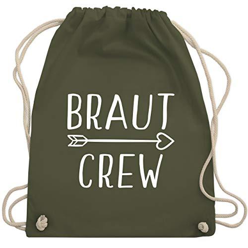 JGA Junggesellinnenabschied - Braut Crew Pfeile - Unisize - Olivgrün - WM110 - Turnbeutel & Gym Bag