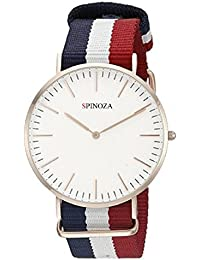 Freny Exim Luxurious Slim Dial Blue White Red Stylish Belt Analog Watch - For Boys And Girls