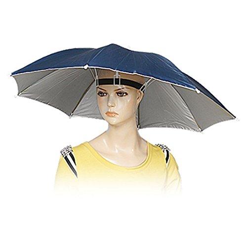 Regenschirm Mütze, Erwachsener klabbarer Regenschirm Für Kopftragen, mehrfabig, Reisezubehoer, fisching,camping