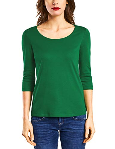 Street One Damen T-Shirt 311693 Pania, Grün (Jolly Green 11508), (Herstellergröße:40)