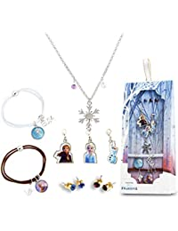 FROZEN  ELSA AND ANNA HEART 23 mm 18 INCH NECKLACE 4 to 6 YEAR GIFT BOX,BIRTHDAY