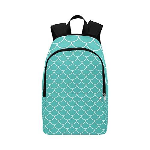 Meerjungfrau Schwanz Fisch Haut Casual Daypack Reisetasche College School Rucksack für Herren und Frauen