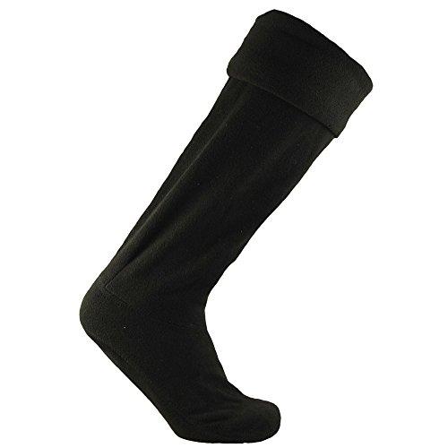 Horizon - Calcetines polar para botas de agua unisex (36-38 EU) (Negro)