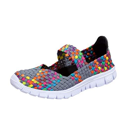 Schuhe, Resplend Frau Lässige Sportschuhe 2018 Gewebte Turnschuhe Mode Geflochten atmungsaktiv Flache Schuhe Sandalen
