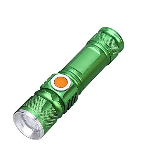 ZZG LED-Taschenlampe Wiederaufladbare Taktische Taschenlampe Im Freien Wasserdichte Taschenlampe Für Wandern Camping Und Outdoor-Aktivitäten,Green