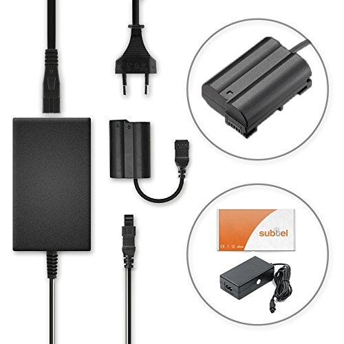 Subtel® alimentatore compatibile con nikon d750 d7000 d7100 d7200 d7500 d850 d810 d810a d800 d800e d610 d600 d500 z 7 z6 1 v1 dl24-500 dl24-85 dl18-50 eh-5b ep-5b adattatore settore caricabatteria