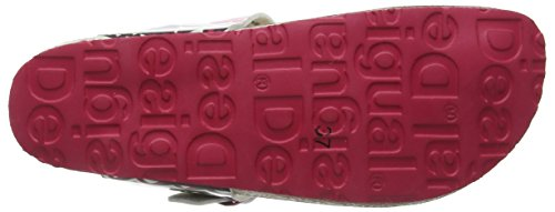 Desigual Shoes_bio 3 Damen Zehentrenner Schwarz (2000 NEGRO)