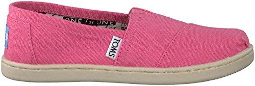 TOMS Classic, Mädchen-Espadrille mit Keilabsatz (Juniorgröße), rosa