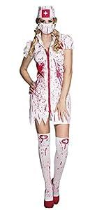 Boland Disfraz 79099Adultos Horror Enfermeras Talla 44/46, Color Blanco/Rojo