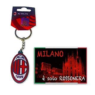 tex family Schlüsselanhänger aus weichem Gummi A.C. Milan