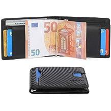 Vemingo Cartera para Hombre con Clip,Monedero con RFID Bloqueo para Tarjetas de Crédito Portamonedas
