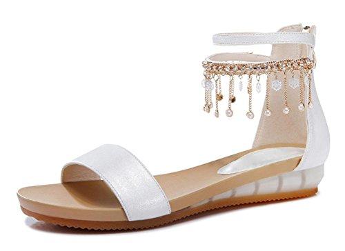 Weibliche Studenten Sommer Sandalen Strandschuhe weibliche Sandalen White