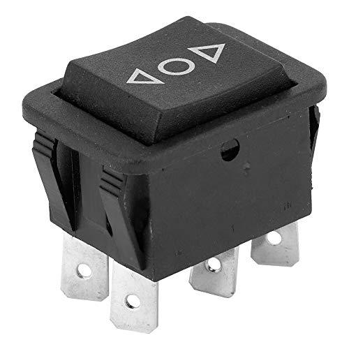 Interruptor Basculante Negro 6 Pines Conmutador Oscilante