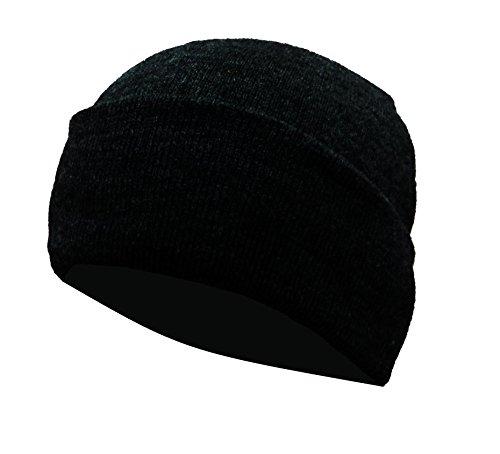 Gajraj Unisex Woolen Skull Cap - Black