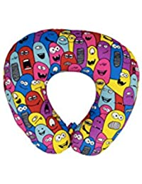 The Crazy Me Colorful Monsters Pattern Travel Neck Pillow(medium)