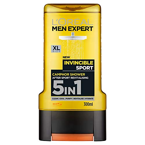 L'Oreal Men Expert Shower Gel - Total Clean (For Body, Face, Hair, Shaving & Moisturizing) 300ml