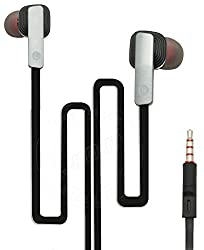 ProHD Bass Ultra Grip In-Ear Earphones with Mic Compatible For Intex Aqua Lions 4G -Silver