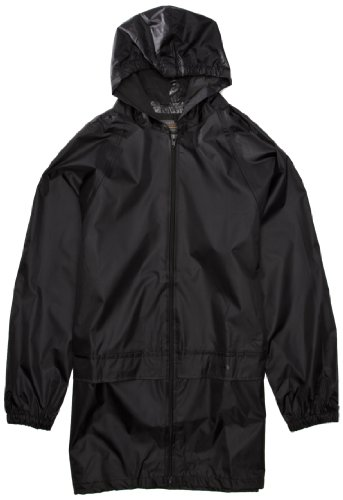 Regatta Kids Stormbreak Waterproof Jacket - Black, 11-12 years (75-79 cm chest) (146-152 cm height )