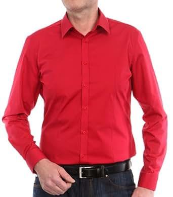 Venti Herren Businesshemd Slim Fit 001470/405, Gr. 37, Rot (405 rot)