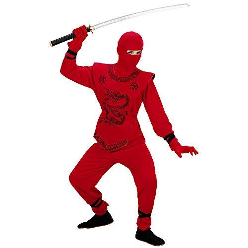 erkostüm Red Ninja, Anzug und Maske, Größe 158 ()