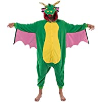 Spooktacular Creations Unisex Adult Pajama Plush Onesie Dragon Animal Costume (Medium)