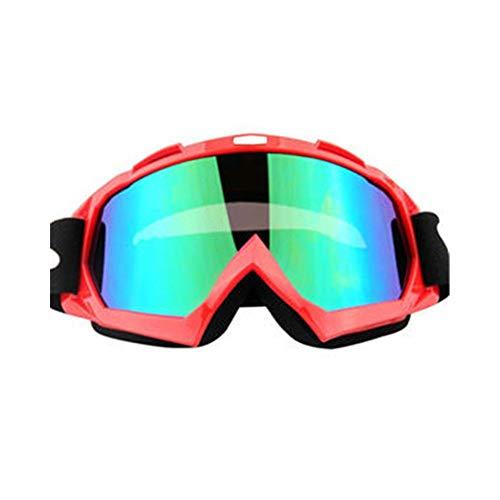 Glasdekoration Motorradbrillen Motocross Xinxun Sportbrillen Reitbrillen UV-Nebelschutz Winddicht Schutzbrillen für Outdoor-Ski Motorschlitten Fahrrad Motorrad Reiten im Freien ( Color : Red ) (Kinder-ski-schutzbrillen, Klare Linse)