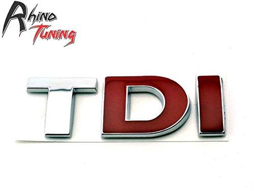 SPA Red DI : Rhino Tuning TDI Fender Car Emblem for PASSAT B5 B6 Golf MK4 MK5 MK6 Polo Side Panel Car Badge 458bk