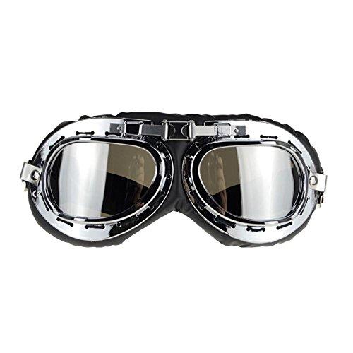 JING Outdoor Sports Sonnenbrillen Retro Motorrad Reitbrillen Langlauf Anti-Ultraviolett Gläser für Klettern und Skifahren, Mercury