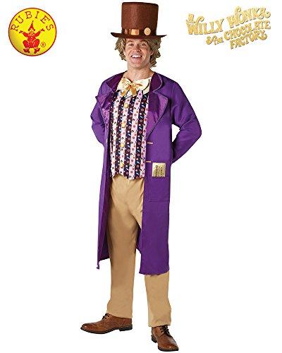 Rubie 's Offizielles Willy Wonka und The Chocolate Factory Erwachsene Kostüm (mittel) (Wonka Willy Kostüm)