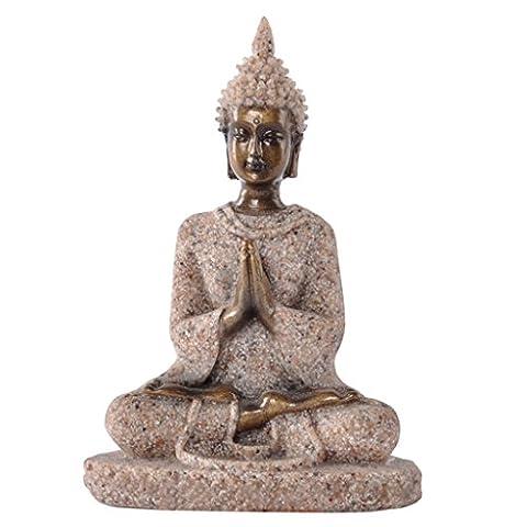 Generic The Hue Sandstone Meditation Buddha Statue Sculpture Hand Carved Figurine (Religioso Giardino Statua)